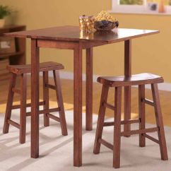 Bistro Table And Chairs Kmart Folding Banquet Essential Home Pub Dining Set 3pc Shop Your Way