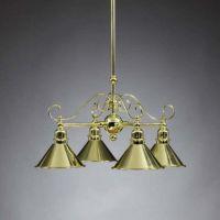 Aztec Lighting Polished Brass 4 Light Chandelier - Home ...