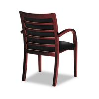 Tiffany Industries Ladder-Back Guest Chair, Mahogany/Black ...