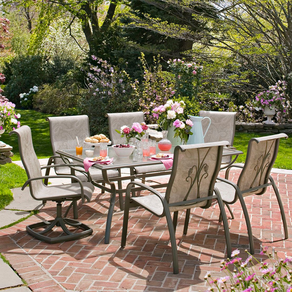 martha stewart patio chairs wingback chair leather everyday garden bloomington dining