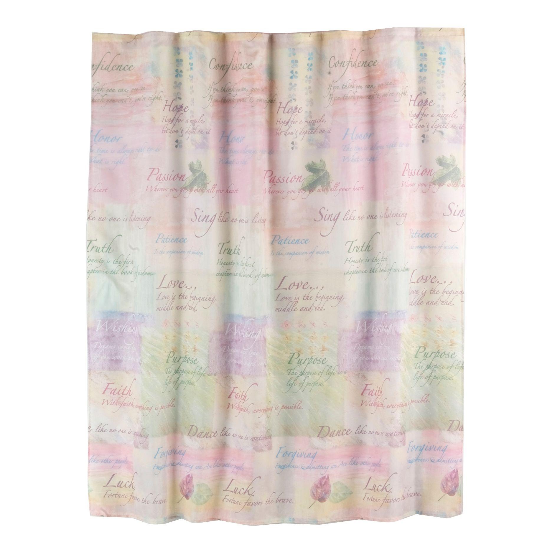 Essential Home Inspiration Fabric Shower Curtain Home Bed Amp Bath Bath Bathroom