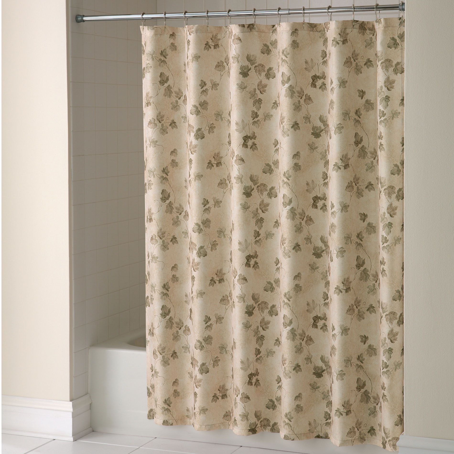 shower curtain classic ivy fabric