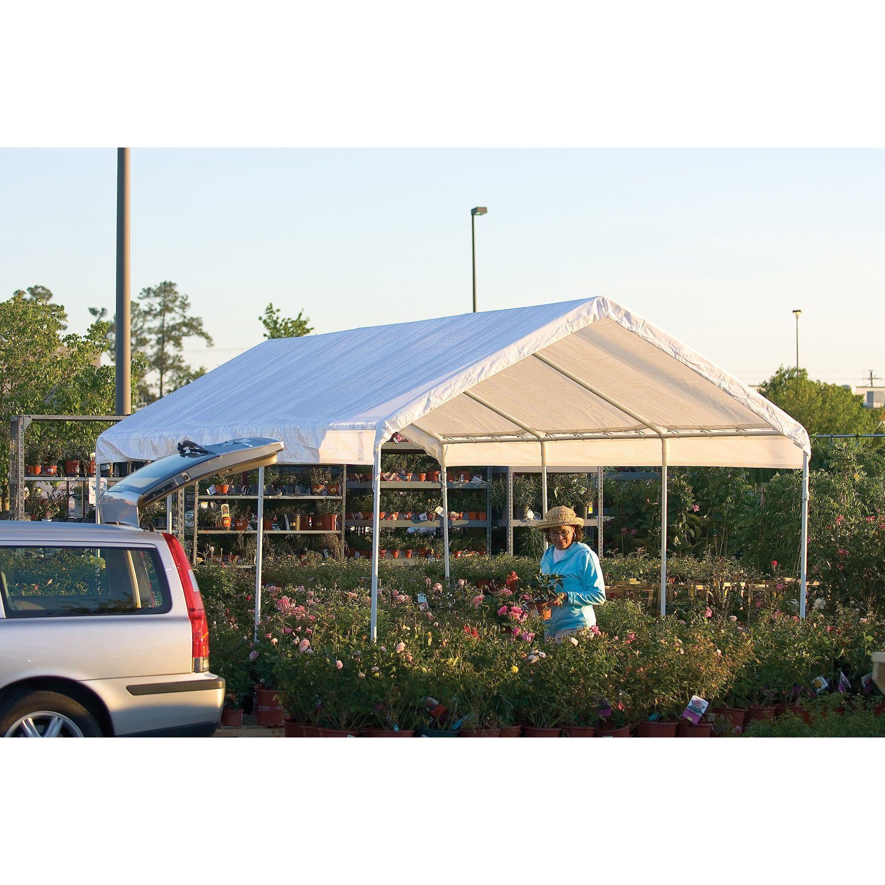Shelterlogic 10x20 - 8 Leg Purpose Canopy White