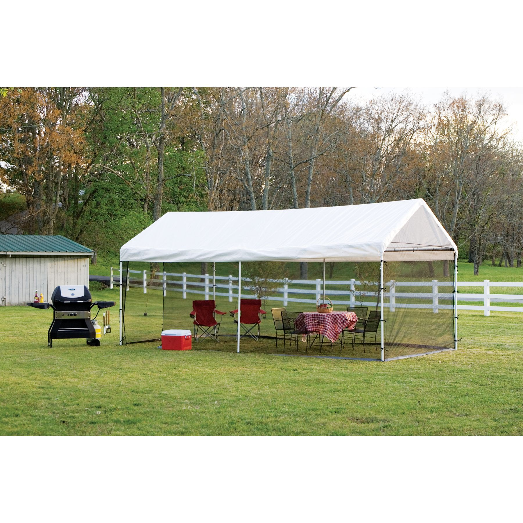 Shelterlogic 10x20 Canopy Screen House Kit - Black