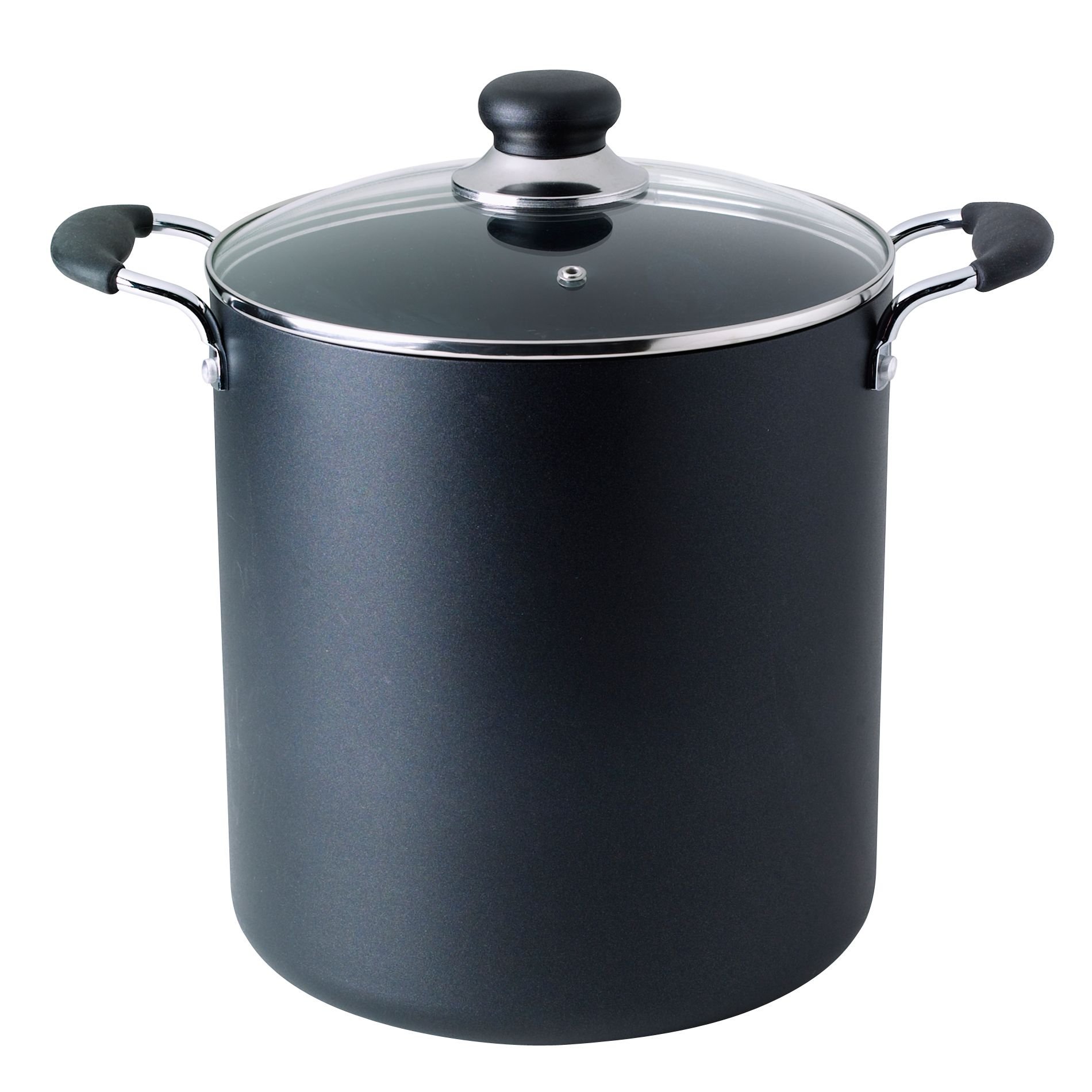 T-fal Stick Stock Pot Black 12 Quart