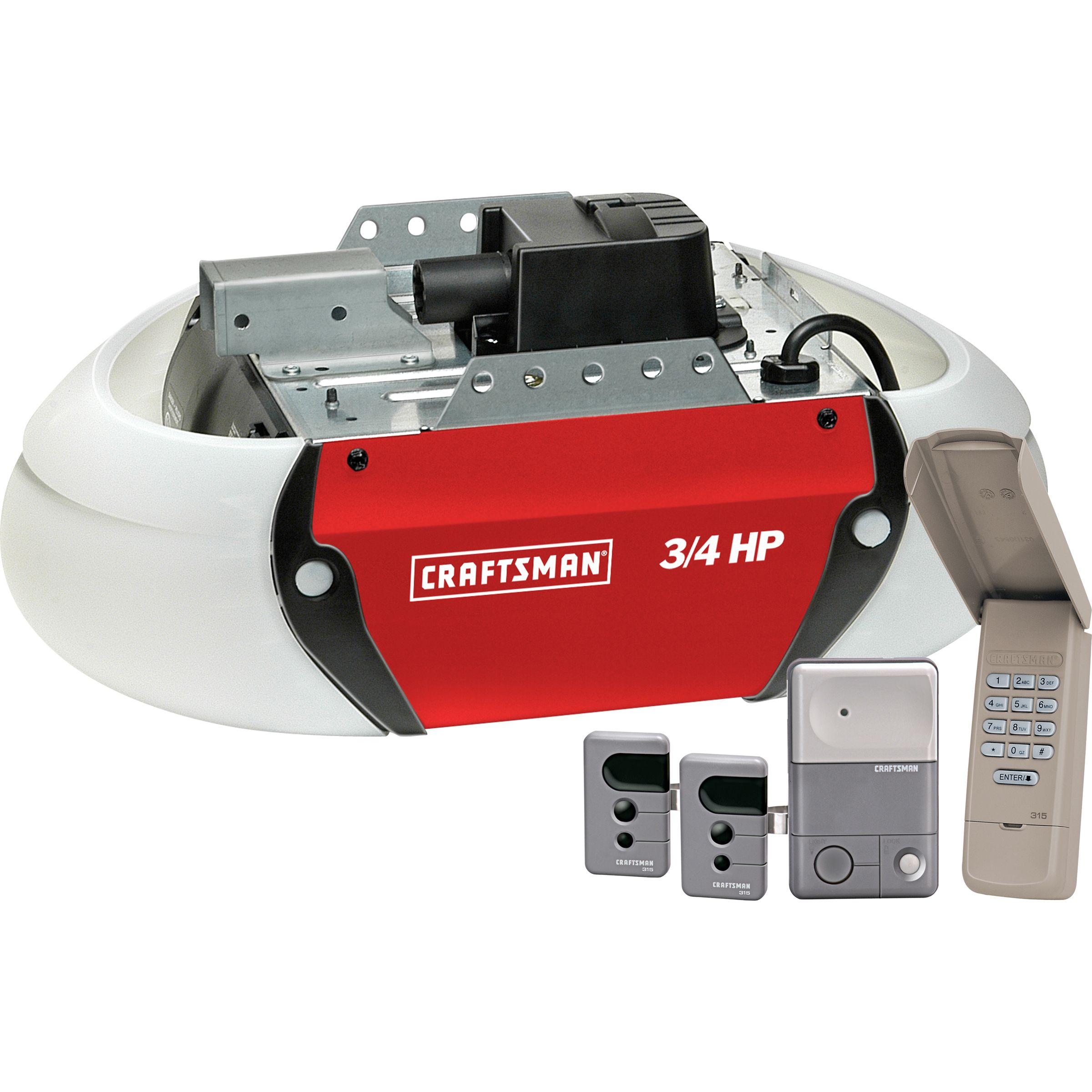craftsman 53925 3 4 hp garage door opener drive sears [ 2400 x 2400 Pixel ]