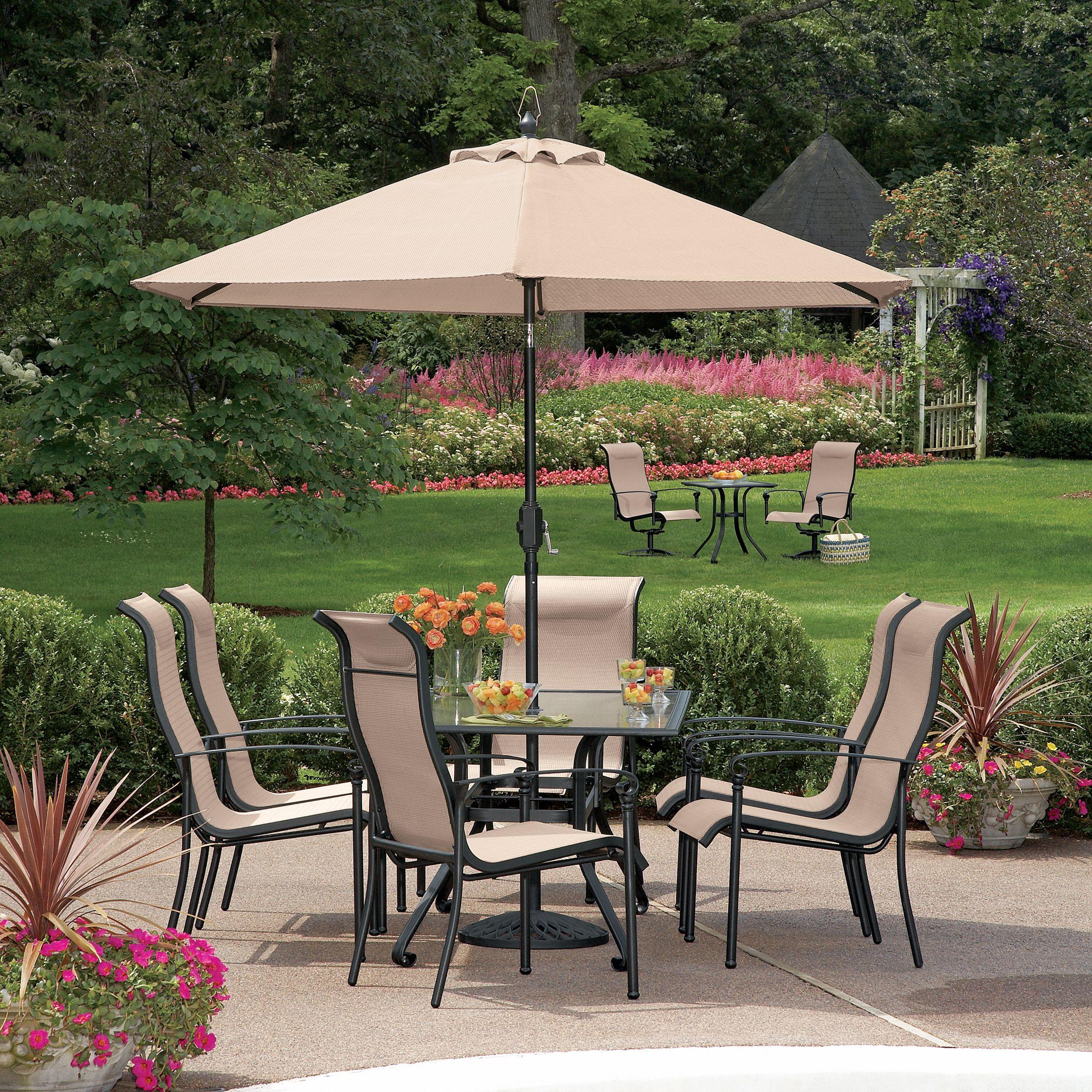 Garden Oasis Crystal Lake 7 Pc Dining Set Including 6