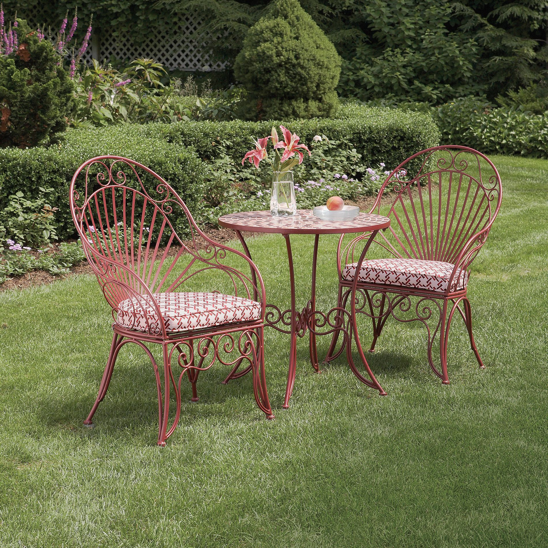 Garden Oasis - L-bs299sst-1 Wrought Iron Bistro Set With