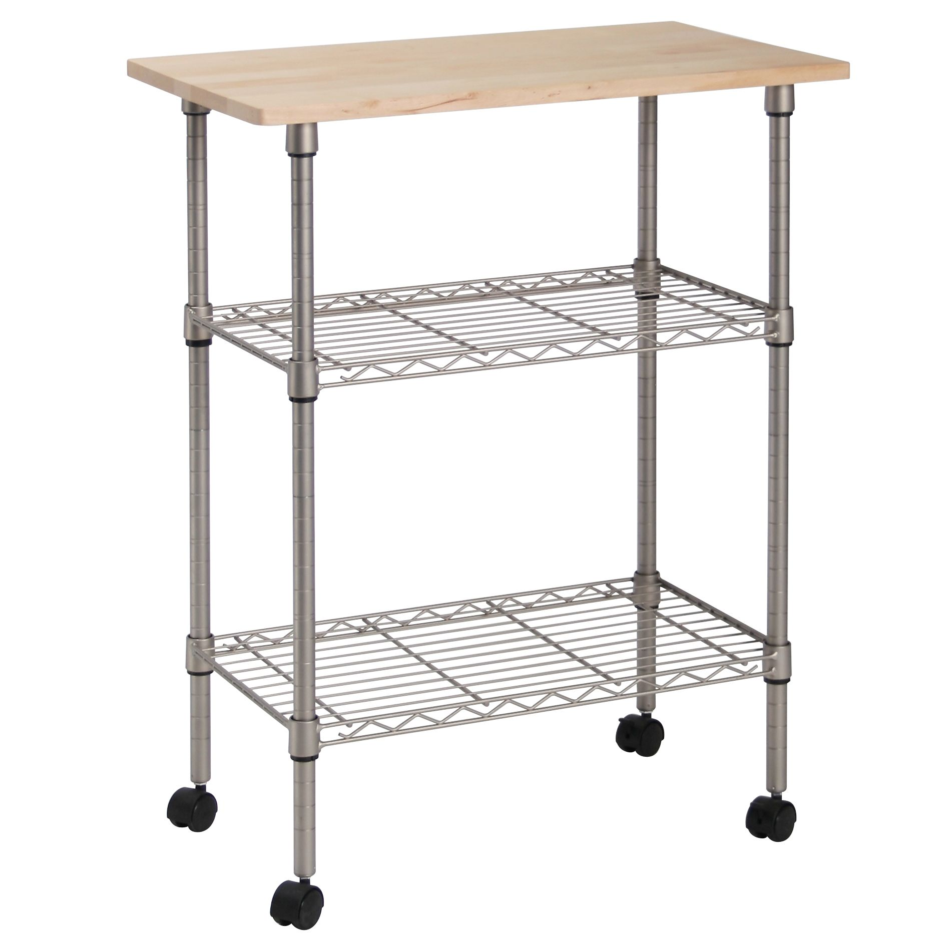 rolling kitchen carts cabinets hinges islands kmart essential home 3 tier portable cart
