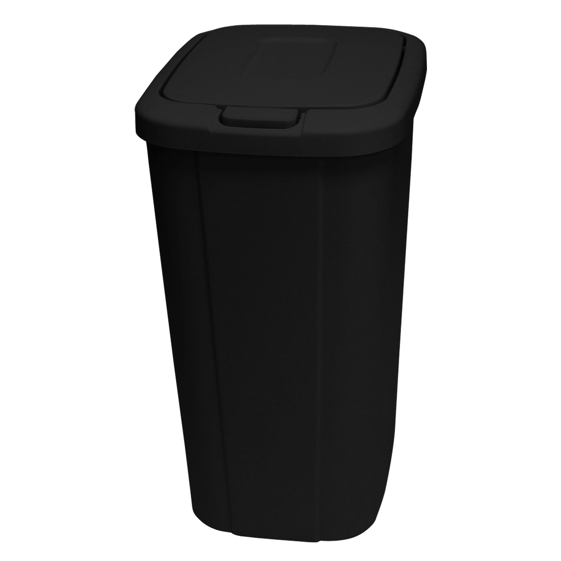 black kitchen trash bags off white cabinets 13 3 gallon wastebasket with touch lid home