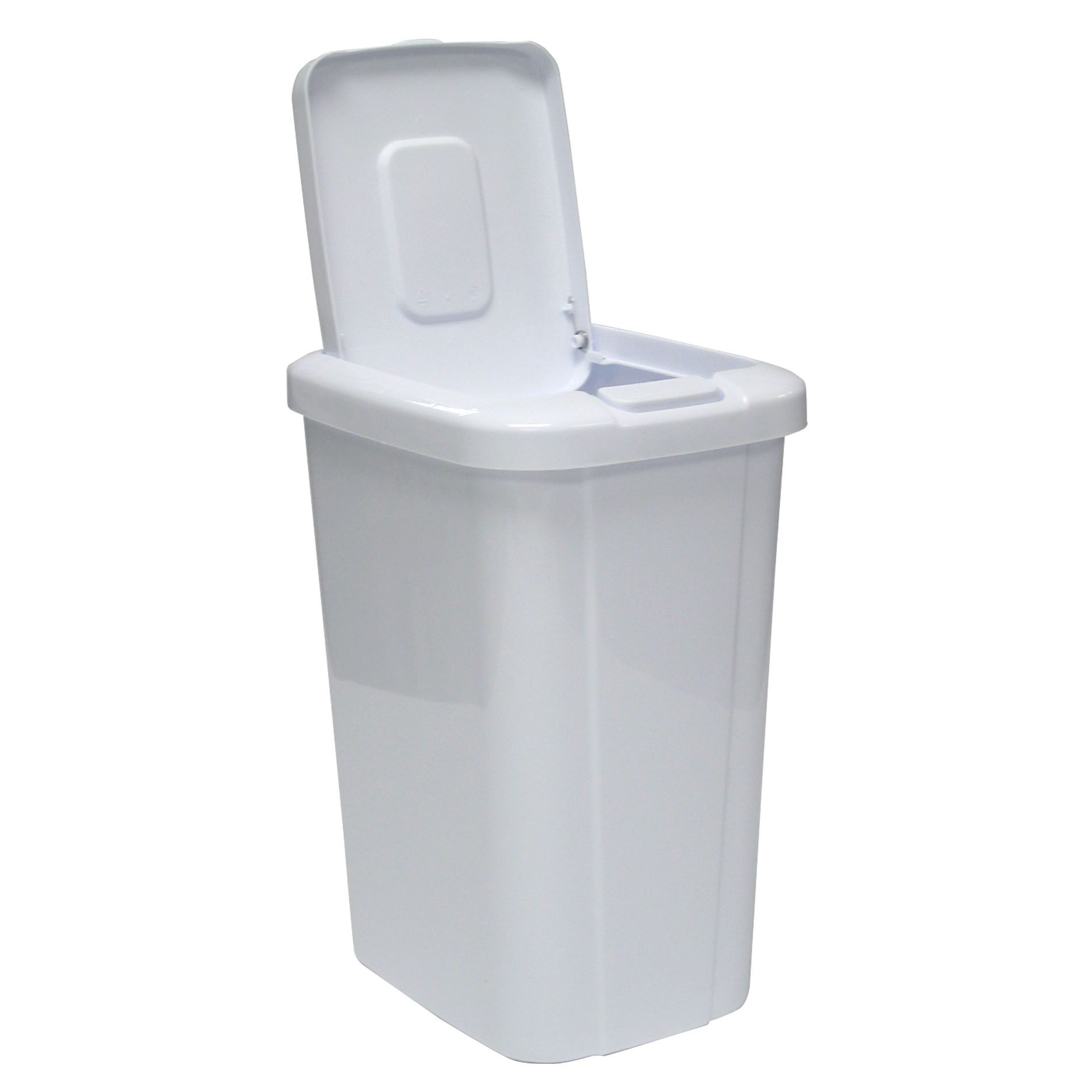 white kitchen trash can laminate floors in cans buy home at sears