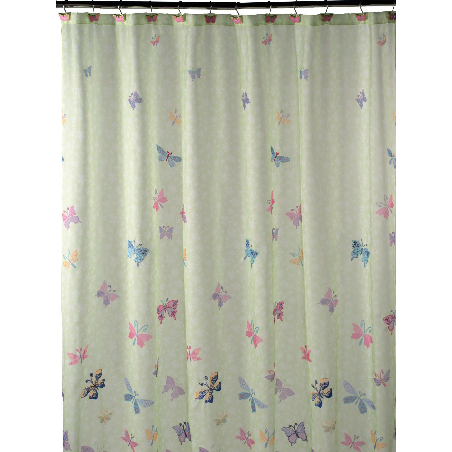Essential Home Butterfly Shower Curtain