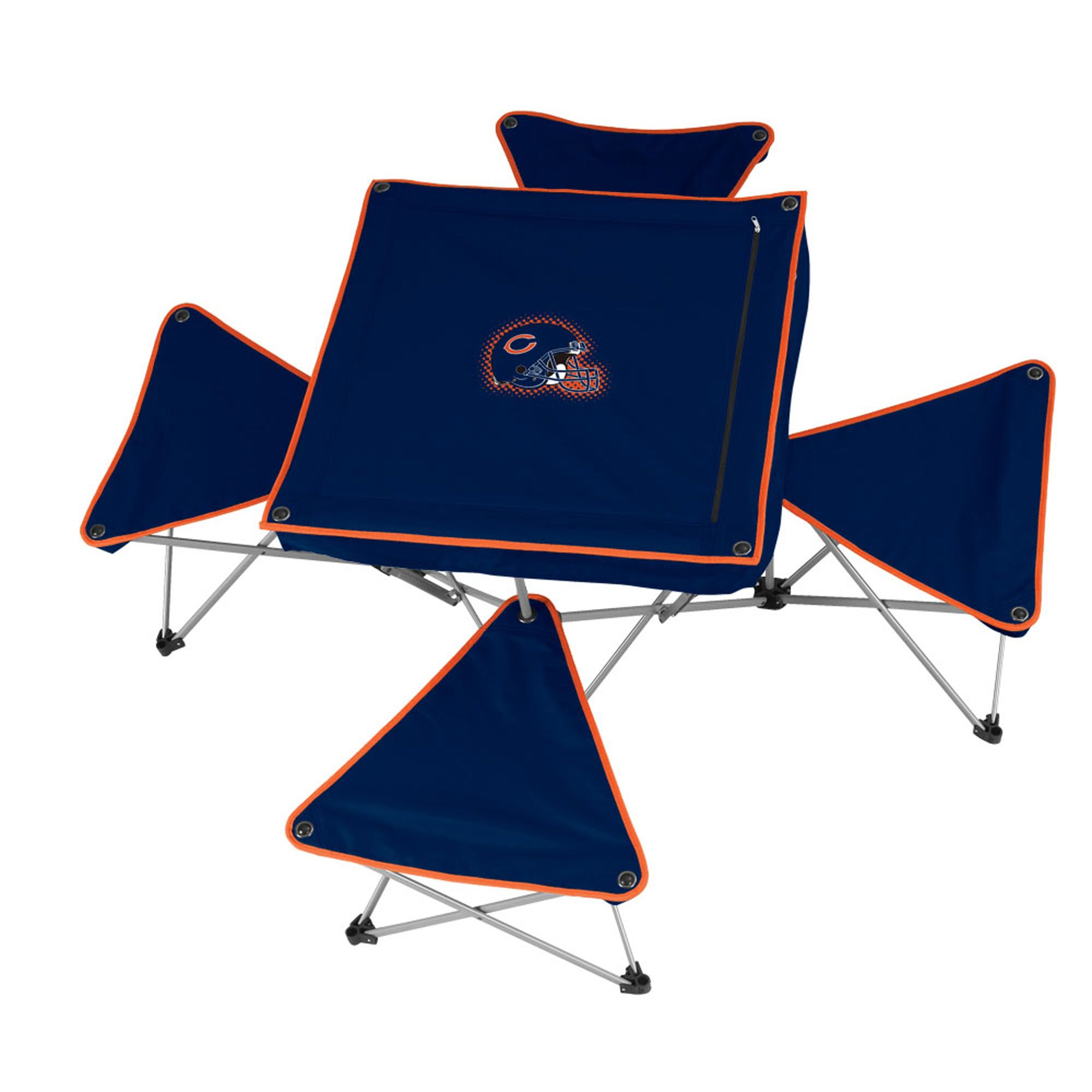 dallas cowboys folding chairs dining room for sale nfl table with 4 stools bears