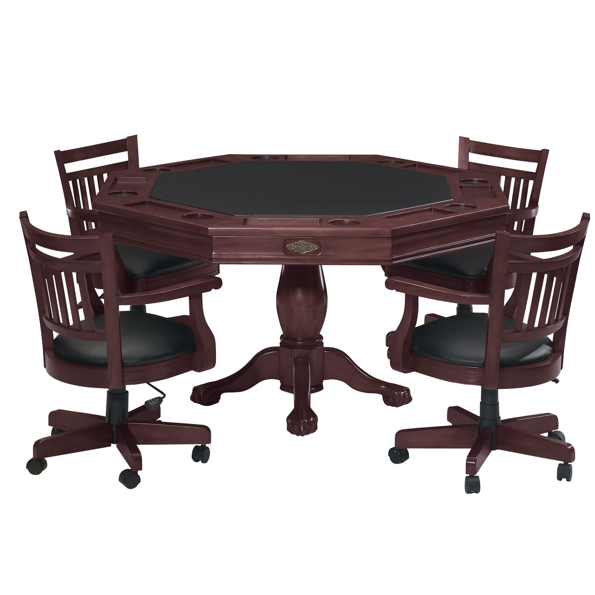 Poker Table And Chairs Brunswick 26038010000 Heritage Ball And Claw Poker Table