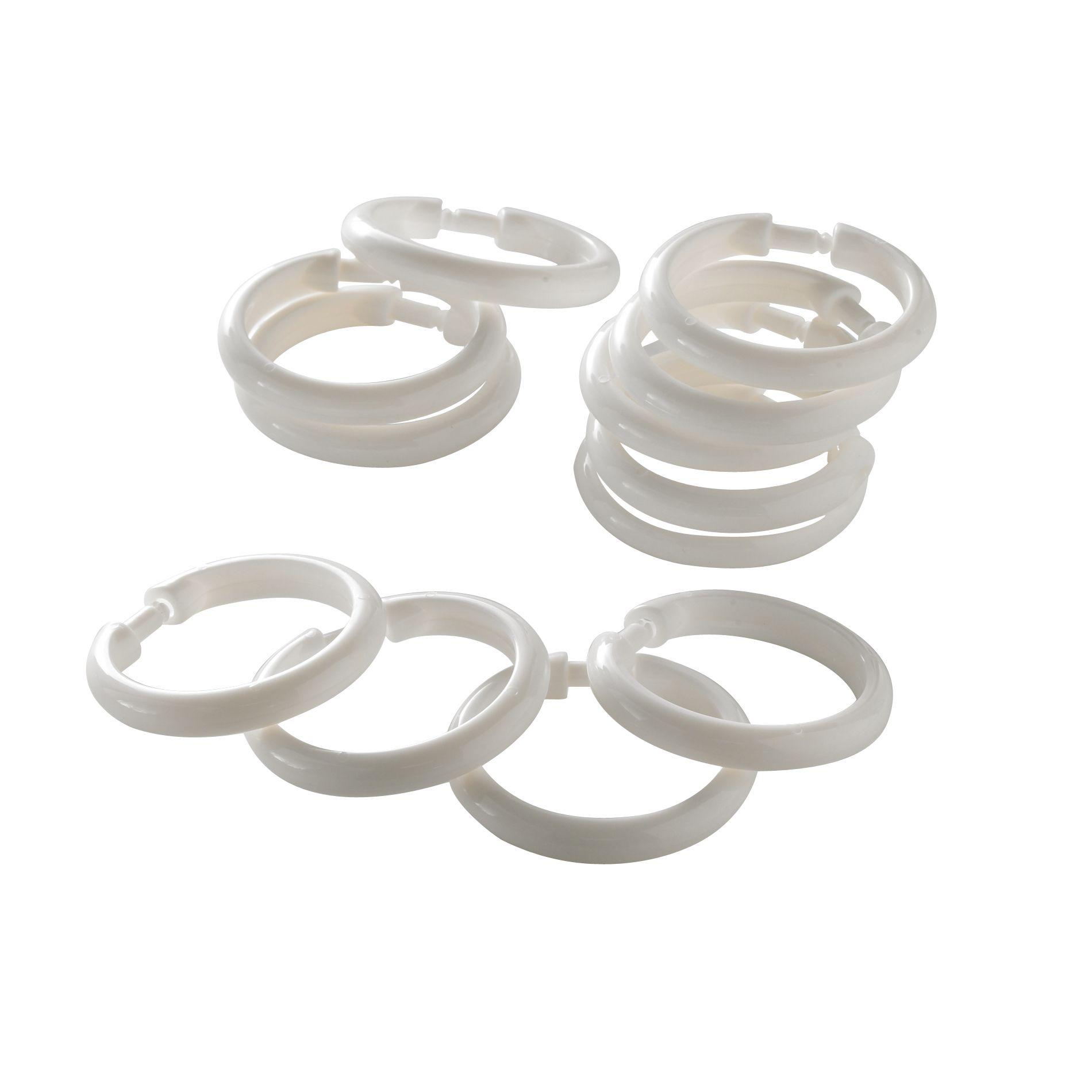 upc 072000177662 essential home white plastic round shower curtain hooks upcitemdb com