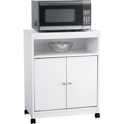 Kitchen Microwave Cart Cupboard Handles Carts Islands Kmart Dorel Home Furnishings Ameriwood Landry White