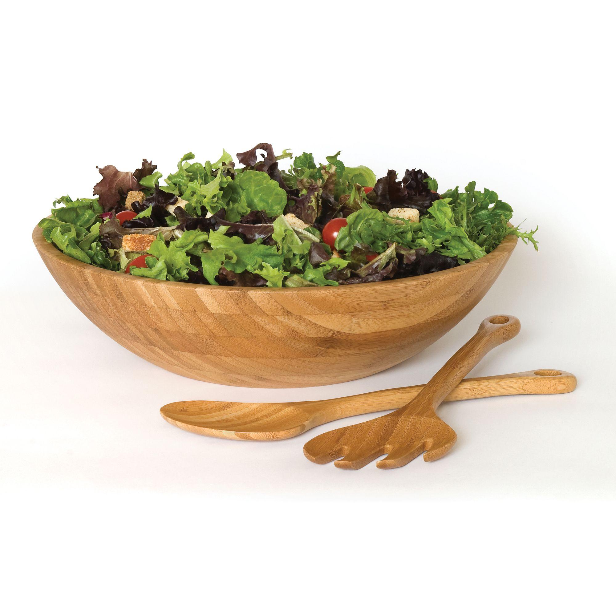 Lipper International 3 Piece Wood Salad Bowl Set