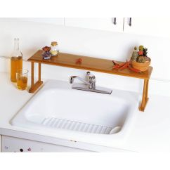 Shelf Above Kitchen Sink Cutting Board Countertop Lipper International Wood Over The