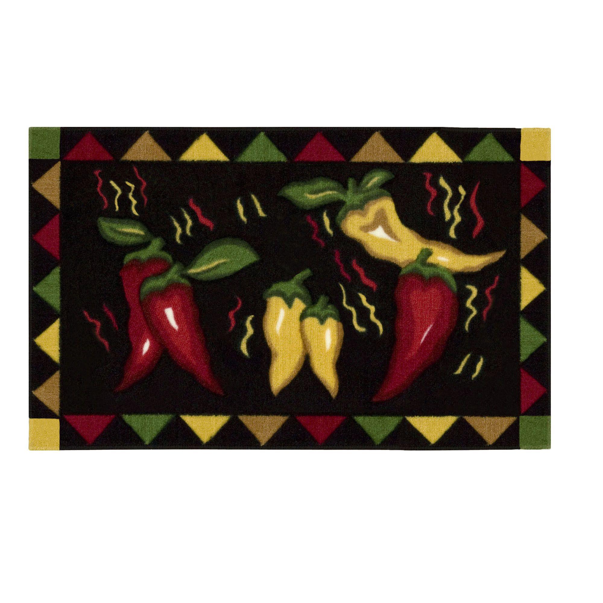 Chili Pepper Kitchen Rug Spice Decor Sears