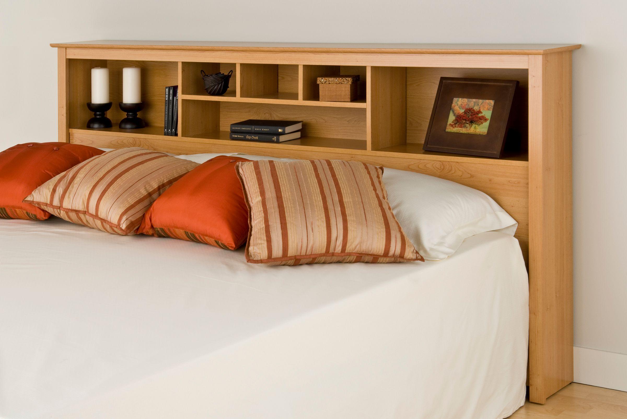 Prepac Sonoma Maple King Storage Headboard Home