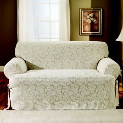 Sofa Slipcover Patterns Free L Shape Set Designs In Hyderabad Sure Fit Scroll Brown T Cushion Home