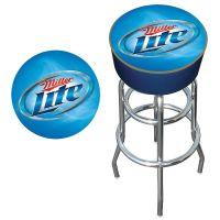 Trademark Miller Lite Logo Padded Bar Stool