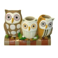 Owl Hoot Toothbrush Holder