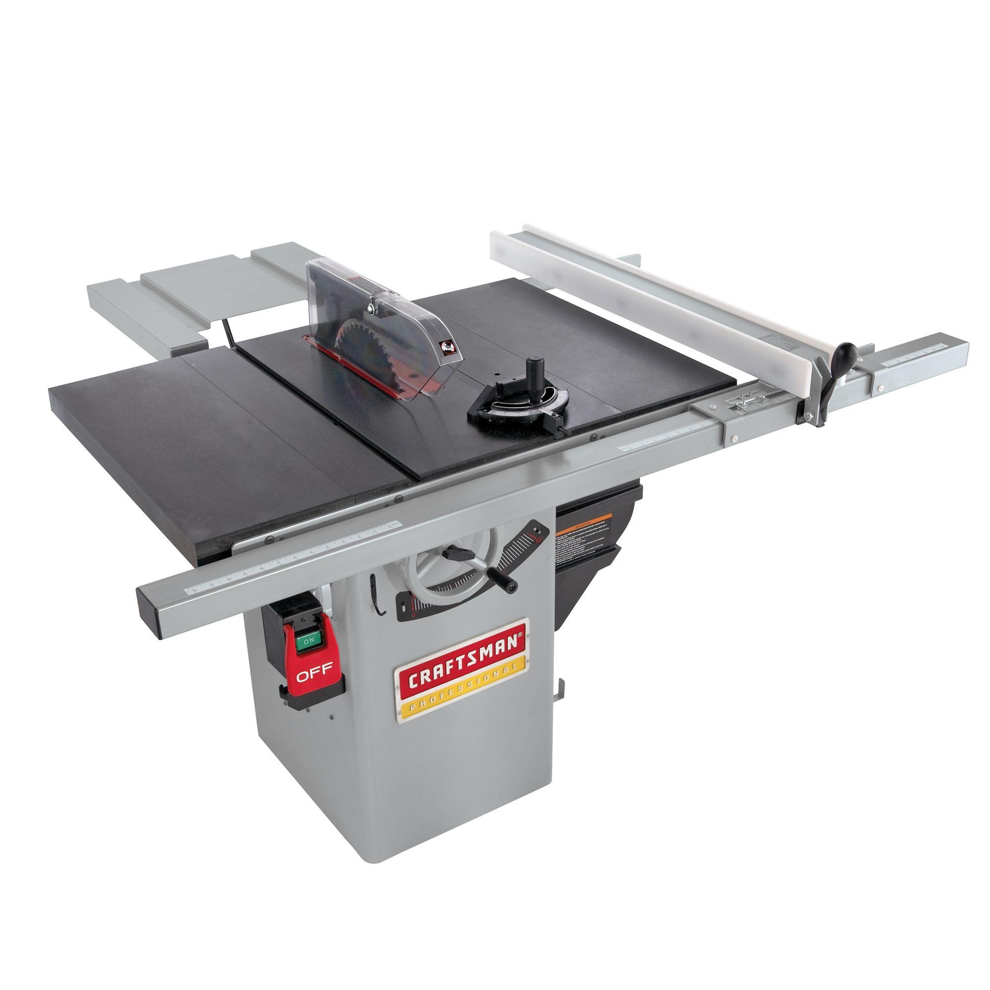"Craftsman Professional 134 Hp Premium Hybrid 10"" Table"
