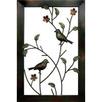 Metal Bird Framed Art Wall Decor
