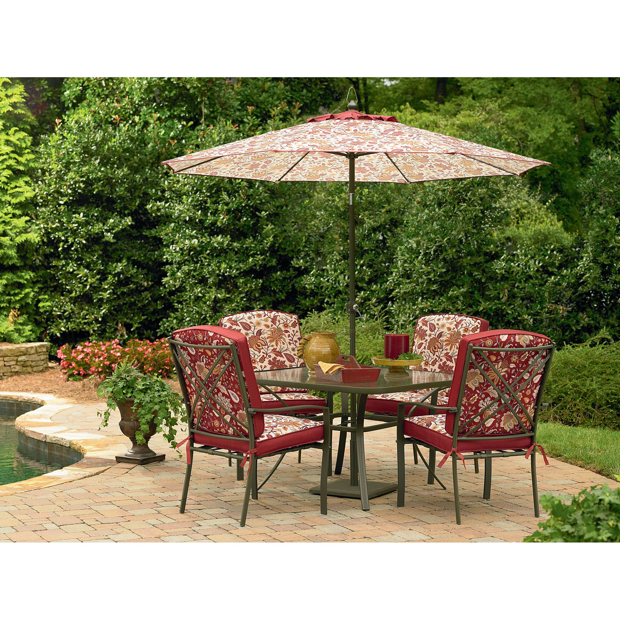 Sears Patio Chairs Essential Garden Laurelhurst 4 Cushion Patio Dining Chairs