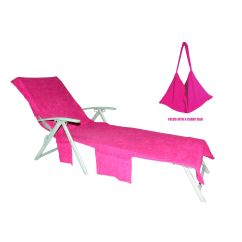 Chair Covers Pink Back Pain Beach Lounge Cover