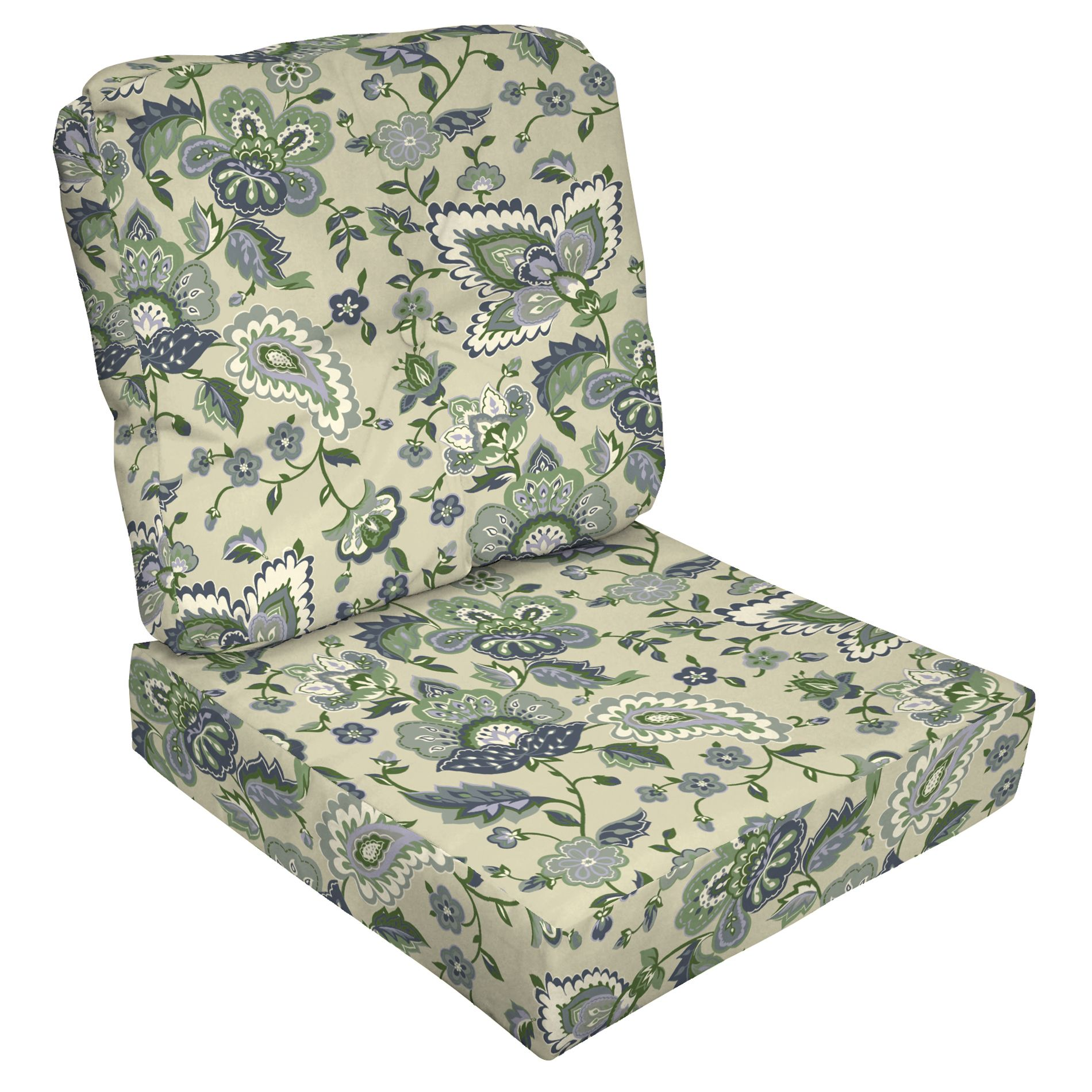 1 piece patio chair cushions outdoor wicker with ottoman jaclyn smith today nathan 2 deep seat