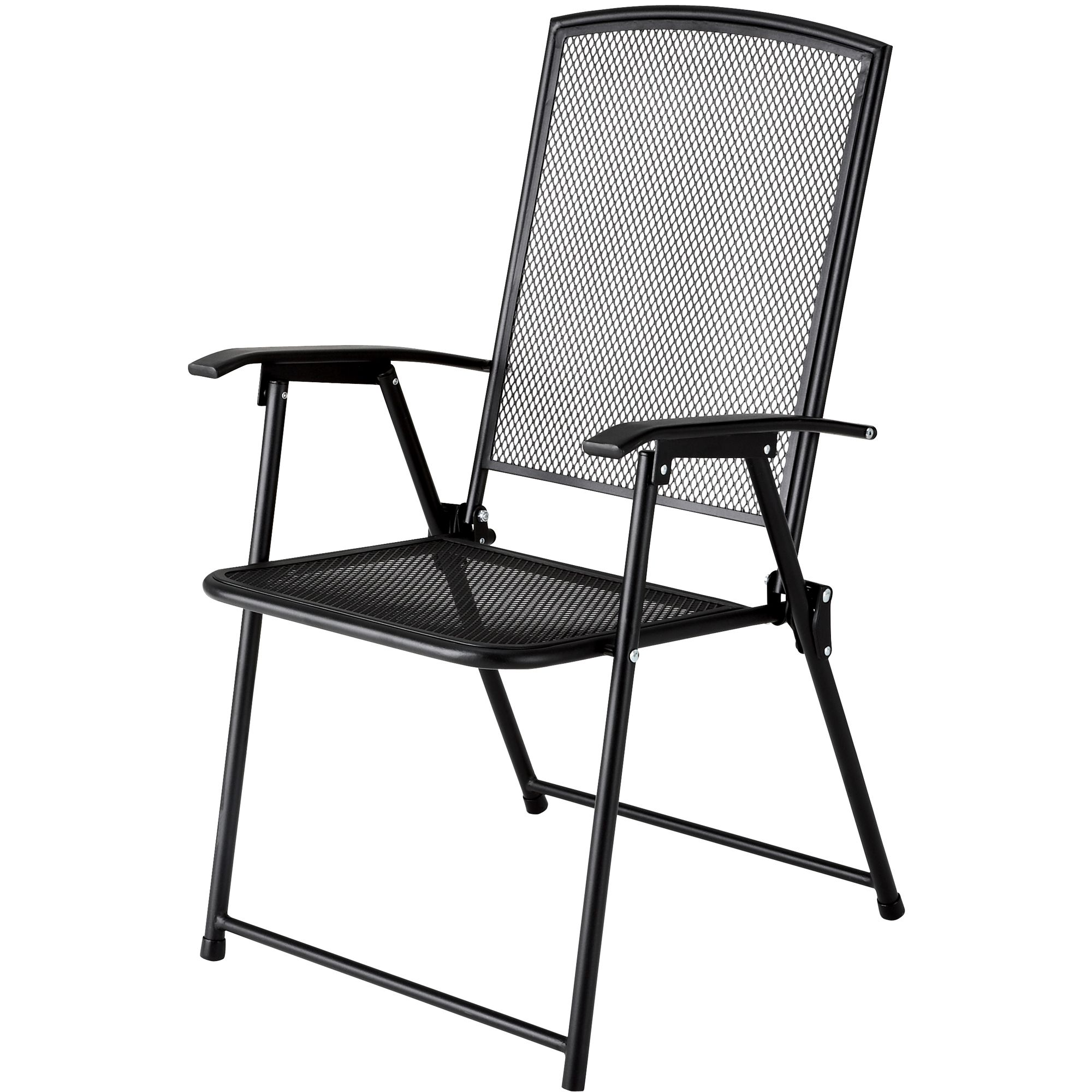 Black Folding Chairs Garden Oasis Wrought Iron Folding Chair Sears