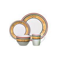 Gibson 16-Pc Tuscan Petals Dinnerware Set