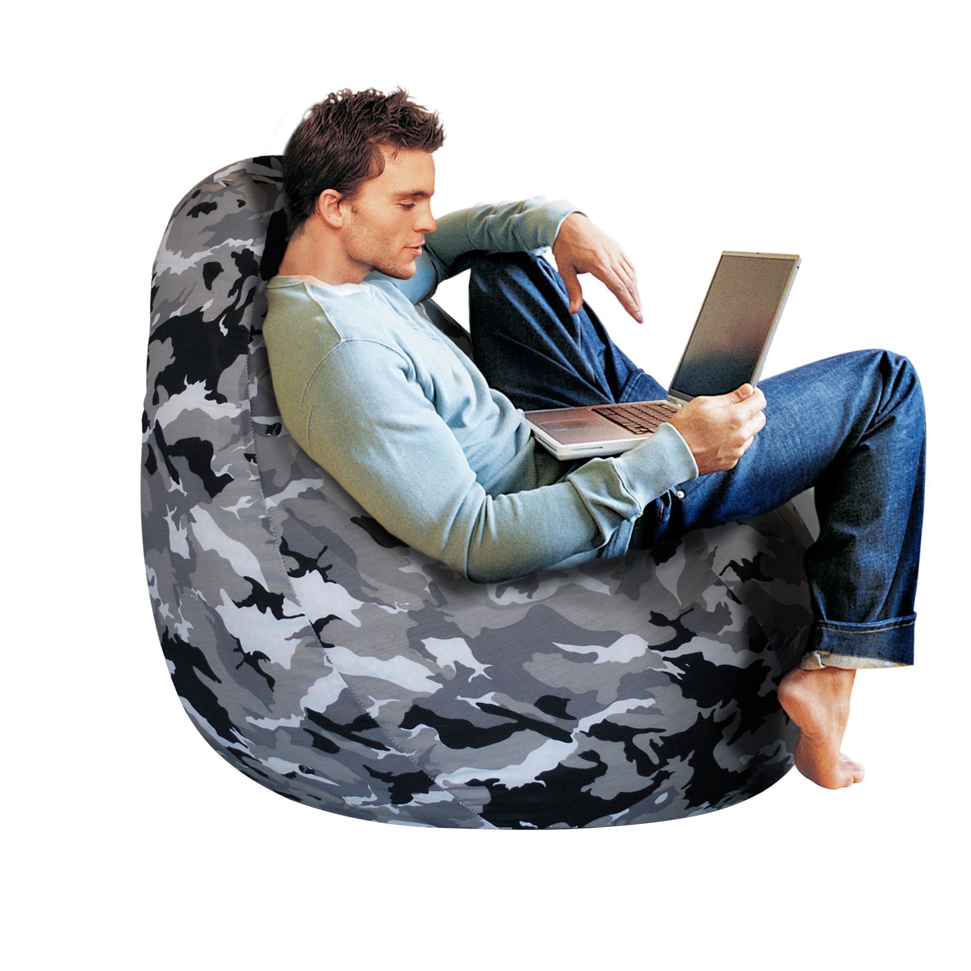 bean bag chair covers mat for carpet factory gray camouflage cover