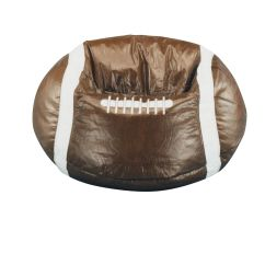 Football Bean Bag Chair Replacement Wood Legs Factory Brown Cover