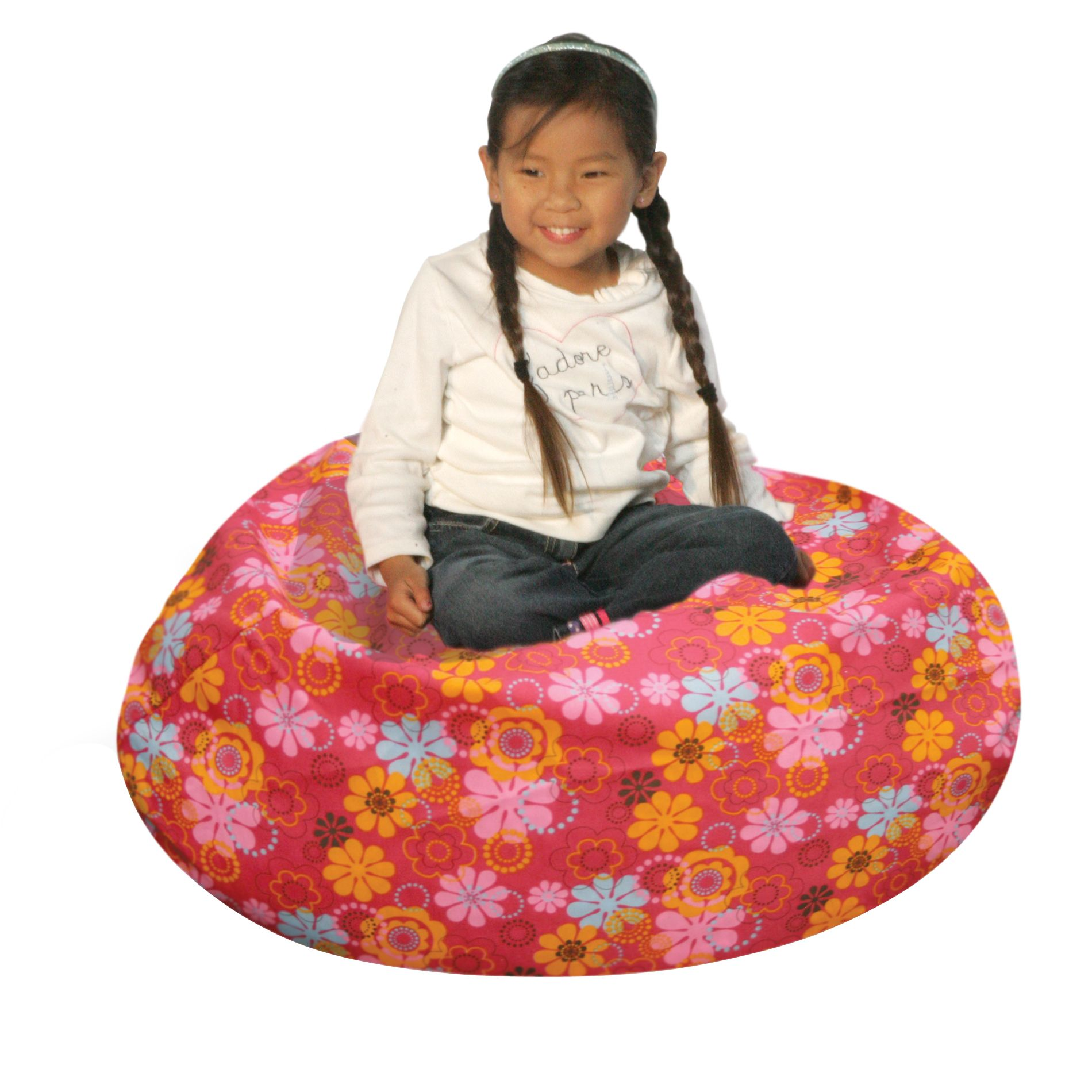 bean bag chair covers webbed chaise lounge chairs factory junior flower power cover