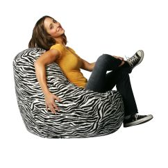 Cheetah Print Bean Bag Chair Backpack With Cooler Factory Zebra Velvet Cover
