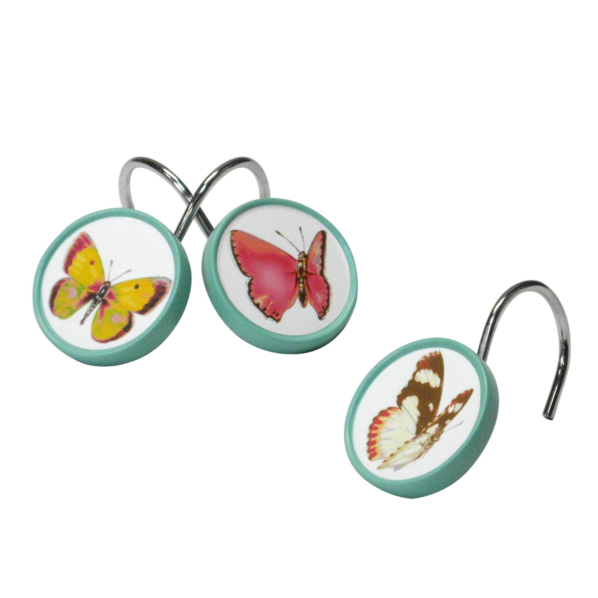 Essential Home Tahka Butterfly Shower Curtain Hooks