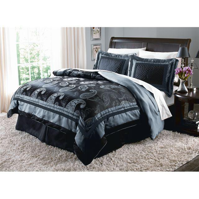 Jaclyn Smith 25th Anniversary Twilight Paisley Comforter