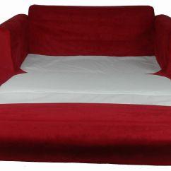 Child Sleeper Sofa Cozy Calicut Fun Furnishings Red Micro Suede Baby