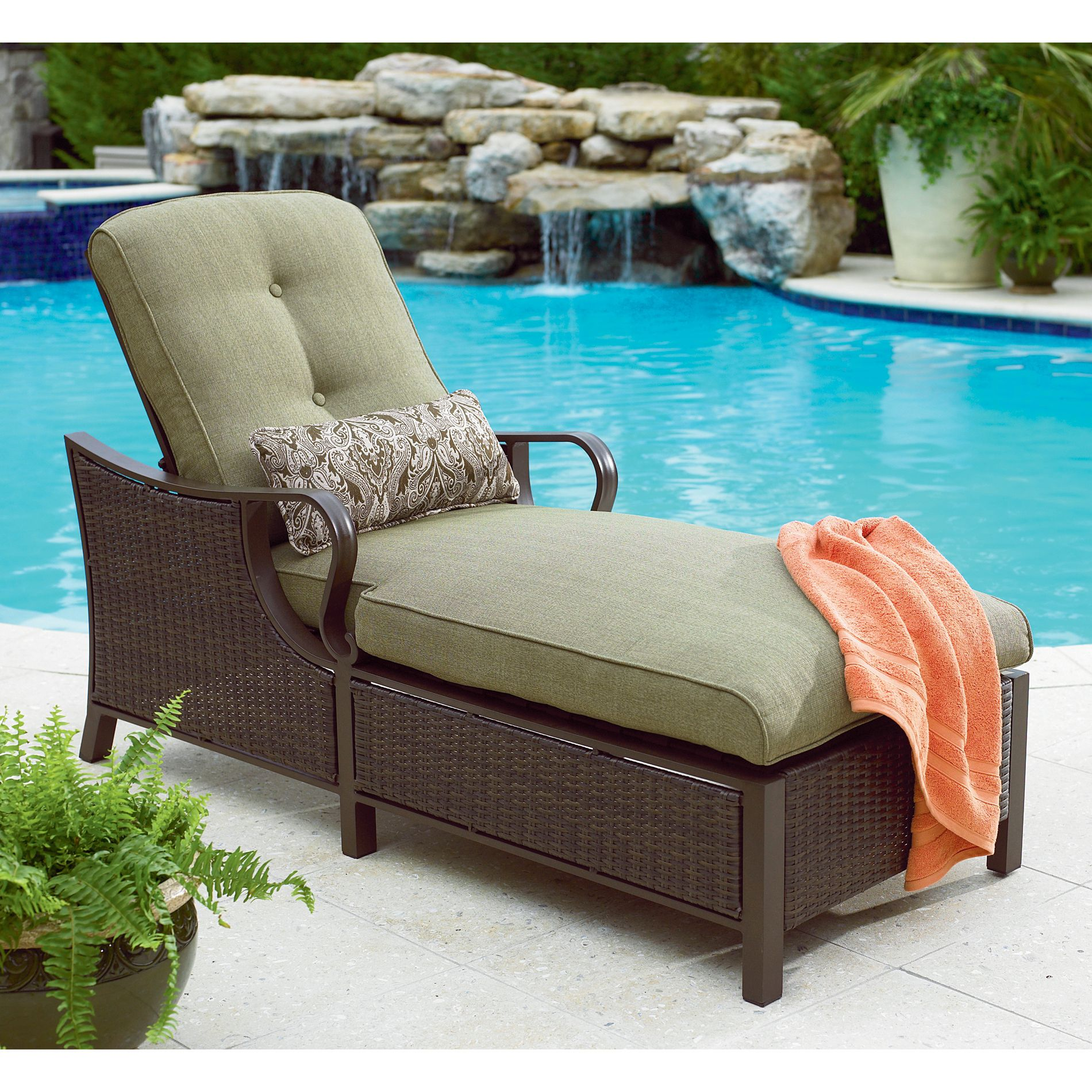 sears lounge chairs babybjorn potty chair green la z boy wicker chaise great outdoor ideas at