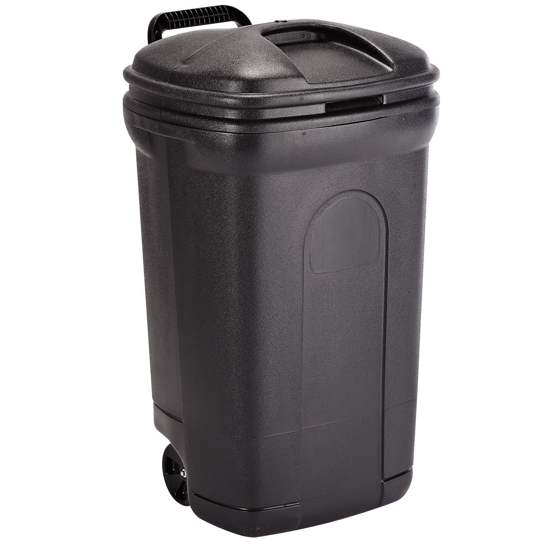 United Solutions TB0014 35 Gallon Trash Can with Wheels