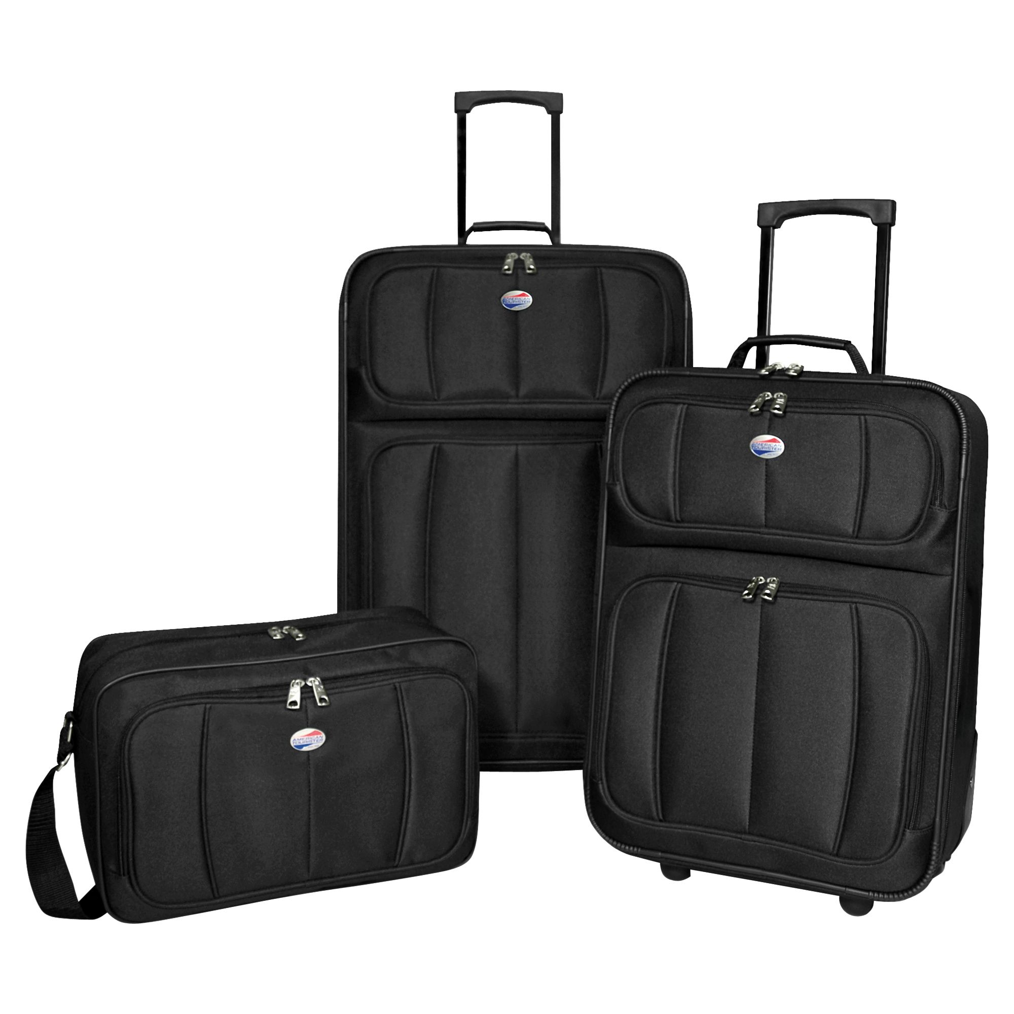 American Tourister 3 Pc. Black Luggage Set