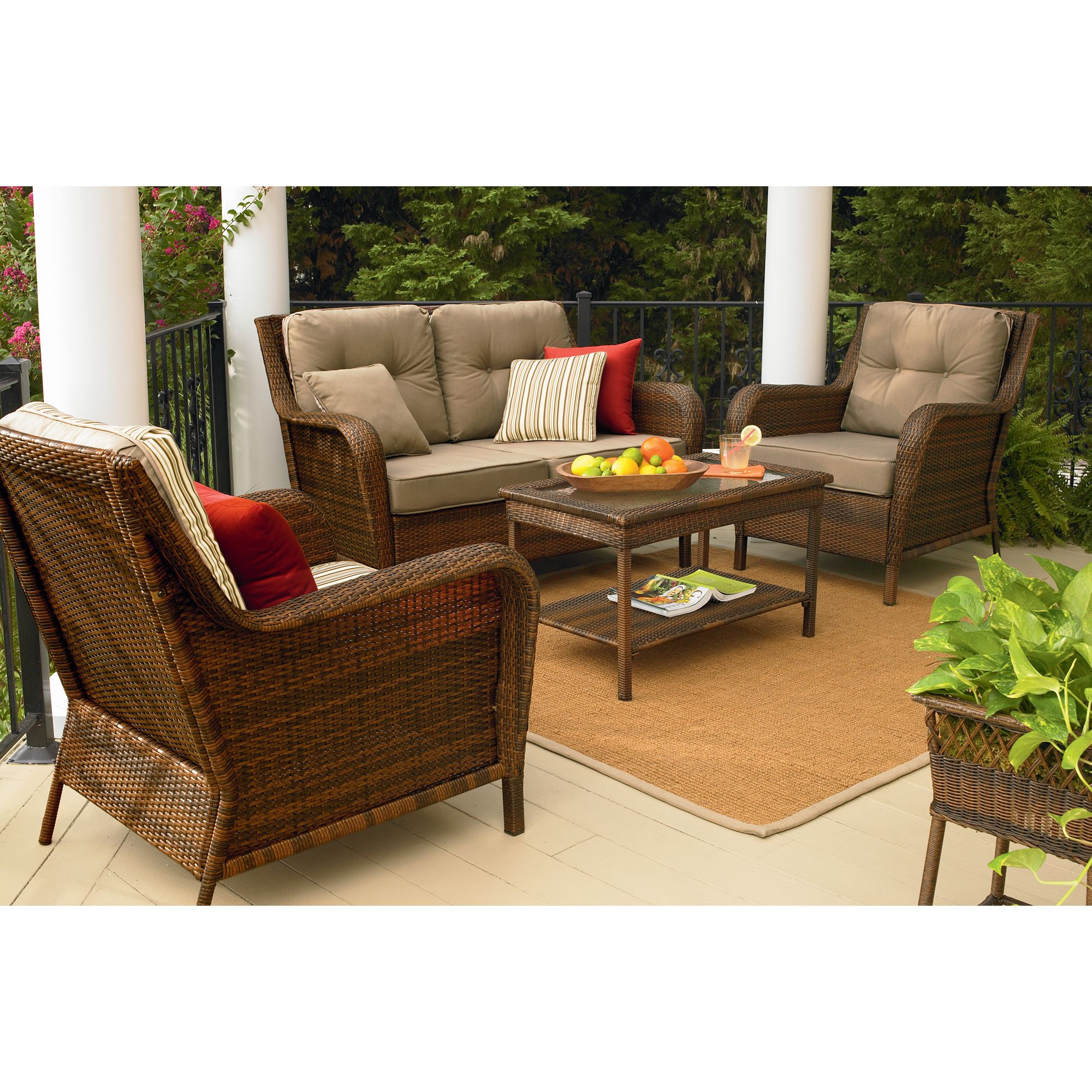 Sears Patio Chairs Ty Pennington Style Mayfield 4 Pc Deep Seating Set Sears