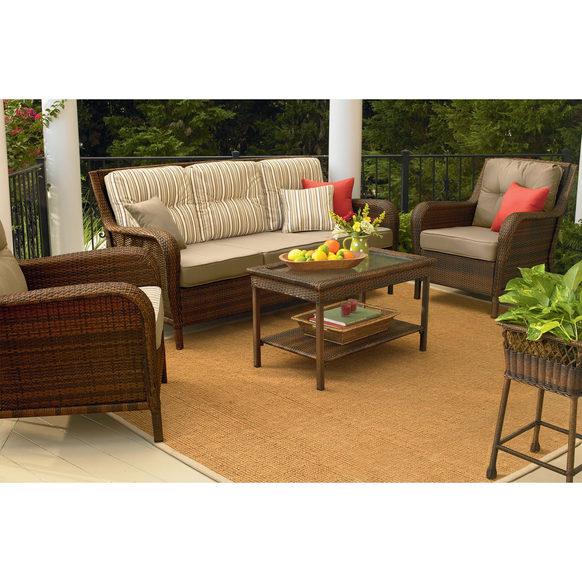 Mayfield Wicker Patio Sofa Transform Outdoor Style