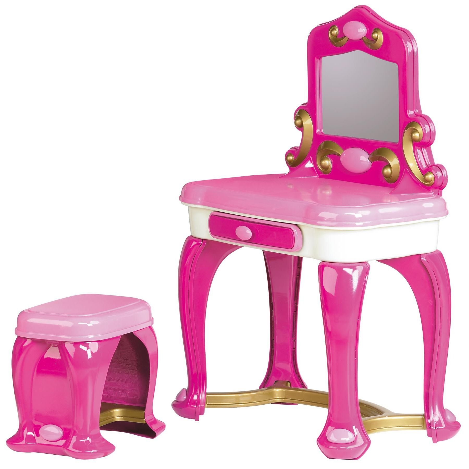 purple makeup vanity chair cane seat repair american plastic toys deluxe