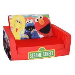 Toddler Flip Out Sofa Couch Lacrosse Elite Sleeper Marshmallow Fun Company Sesame Street Open ...