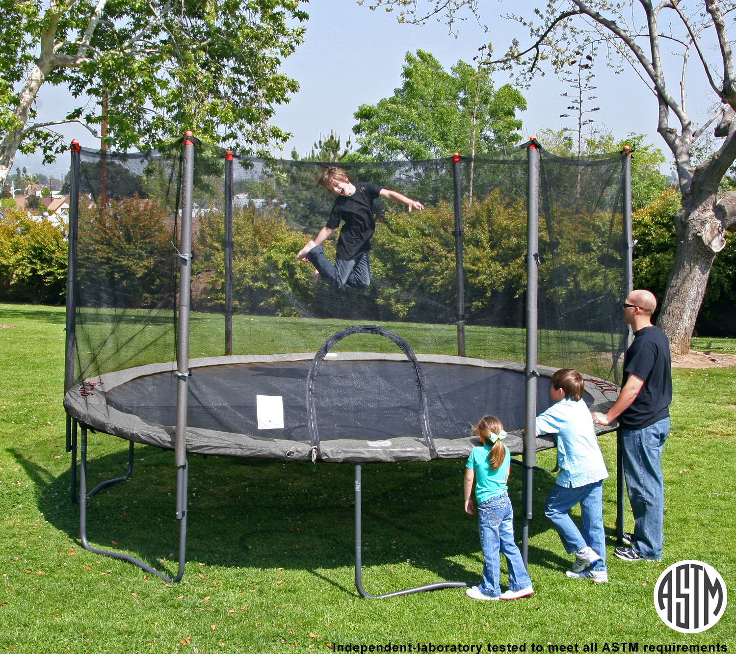 Airzone 14' Trampoline With Enclosure Combo - Toys & Games Outdoor Trampolines