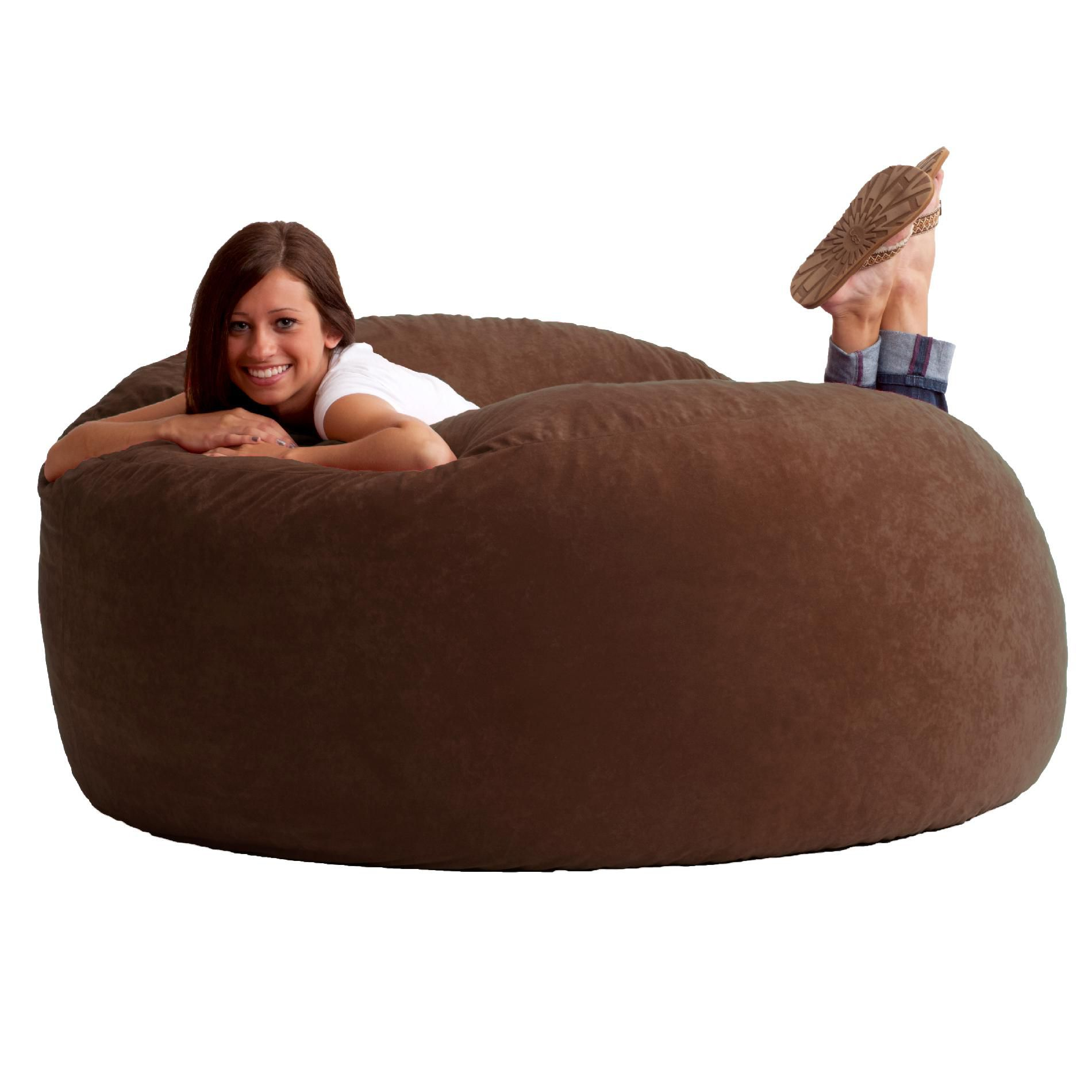 Comfortable Bean Bag Chairs Comfort Research 5 39 King Fuf Bean Bag Chair In Espresso